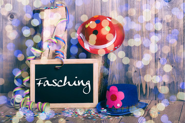 Fasching Tafel Hut