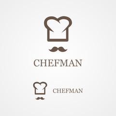 Vector logo of creative chef