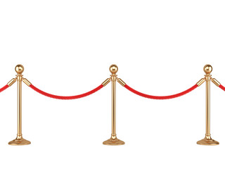 gold stanchions with rope