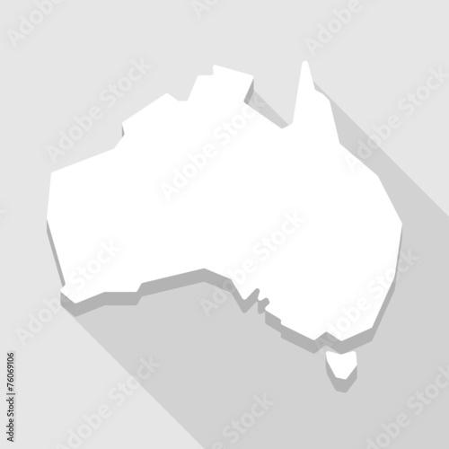 Australia Map Shape.White Australia Map Shape Icon Stock Image And Royalty Free Vector