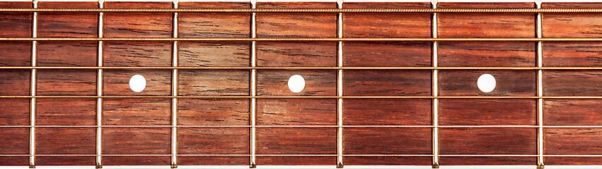 Acoustic guitar fretboard background