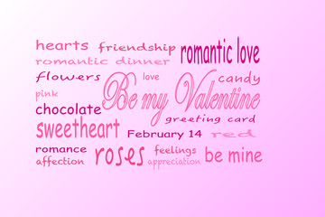 tag cloud Valentine's Day