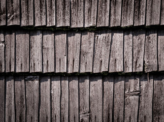 detail of an old wooden wall