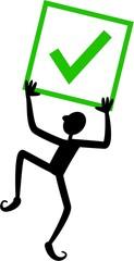 Green Tick Box Man