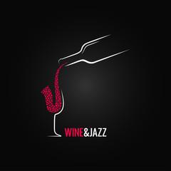 wine and jazz concept design background