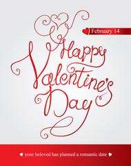 Happy Valentine's Day  - handmade calligraphy.