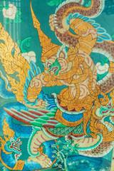 antike Malerei am Tempel Wat Suthat in Bangkok
