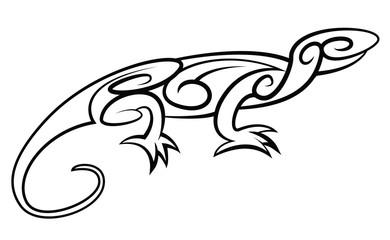 Lizard Tribal Tattoo