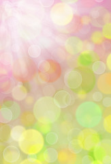 blurred colorful spring background