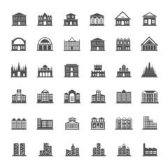 Building icon set
