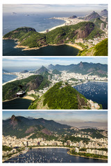Wall Mural - Triptychon Blick vom Zuckerhut in Rio de Janeiro, Brasilien