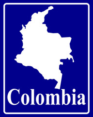 silhouette map of Colombia