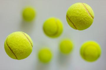 flying tennis balls