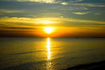 Heavens Gold Sunset