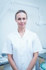 Portrait of smiling female dentist