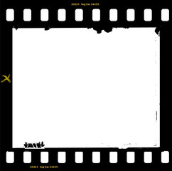 frame of film, grungy photo frame,with free copy space,vector il