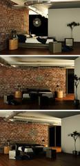 modernes Schlafzimmer Interieur Design