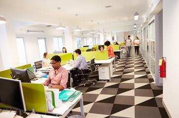 Interior Of Busy Modern Design Office