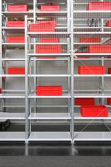 Red crates storage