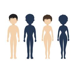 Human body  in flat style Vector women, men character
