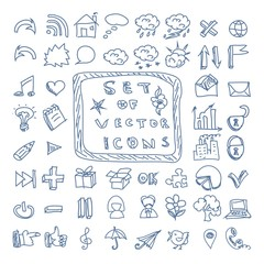 Set of vector doodles icons