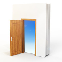 3D book with opened door