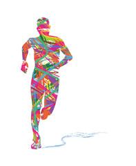 Estores personalizados con tu foto silhouette astratta di uomo che corre