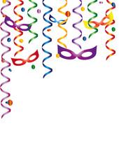 Luftschlangen Masken Konfetti
