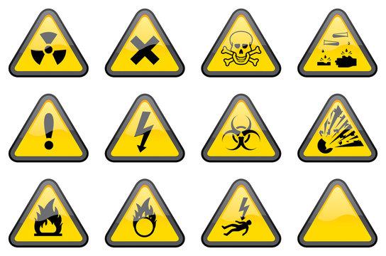 Triangular Hazard Signs