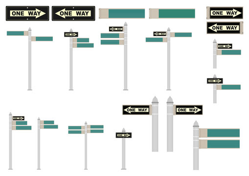 Street signs.