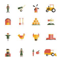 Farm Icon Flat