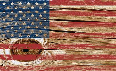 Wood Flag Image Blend