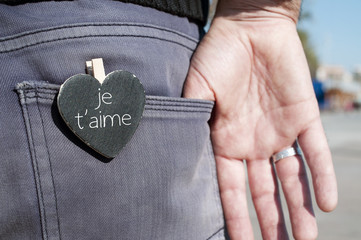 je t aime, I love you in french