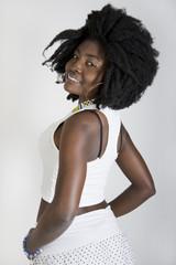 bella giovane ragazza nera ebano lesbiche preliminari