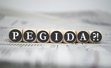 Würfel mit PEGIDA