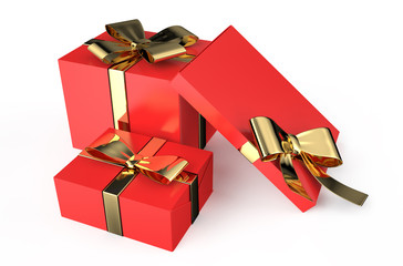 Gift red boxes