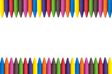 crayons copy space