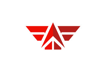 wing abstract up vector logo