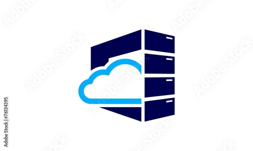 cloud server logo stock image and royalty free vector files on