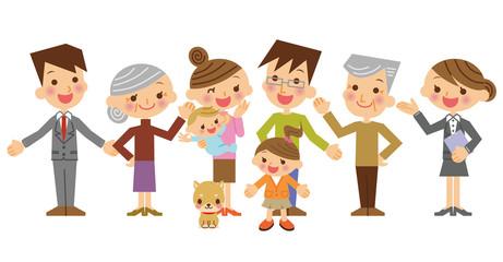 セールスマンと三世代家族