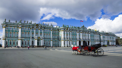 The Winter Palace on Palace Square in St. Petersburg, Russia