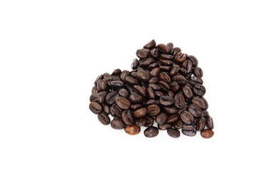 coffee Beans in white background , isolated