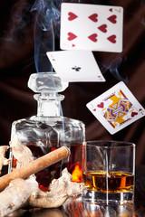 Alkoholkonsum, Glücksspiel und Zigarrenrauch