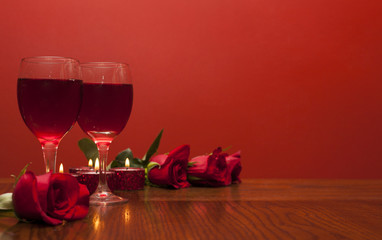 Fototapete - Romantic card for  Valentines day