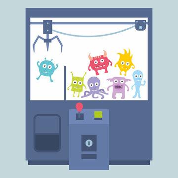 Claw crane game machine