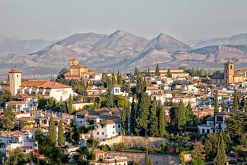 Muslim region of Albayzin in Granada, Spain
