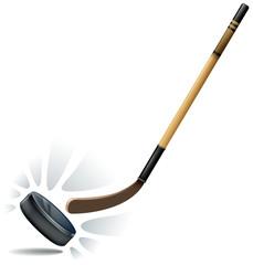 hockey puck action