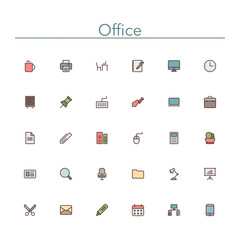 Office Colored Line Icons