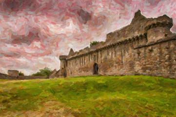 Craigmillar Castle Digital Painting