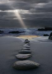 Obraz Zen der Weg zum Licht - fototapety do salonu